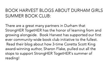 Book Harvest Blogs
