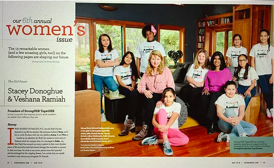 Durham Women's Issue Spread - StrongHER TogetHER